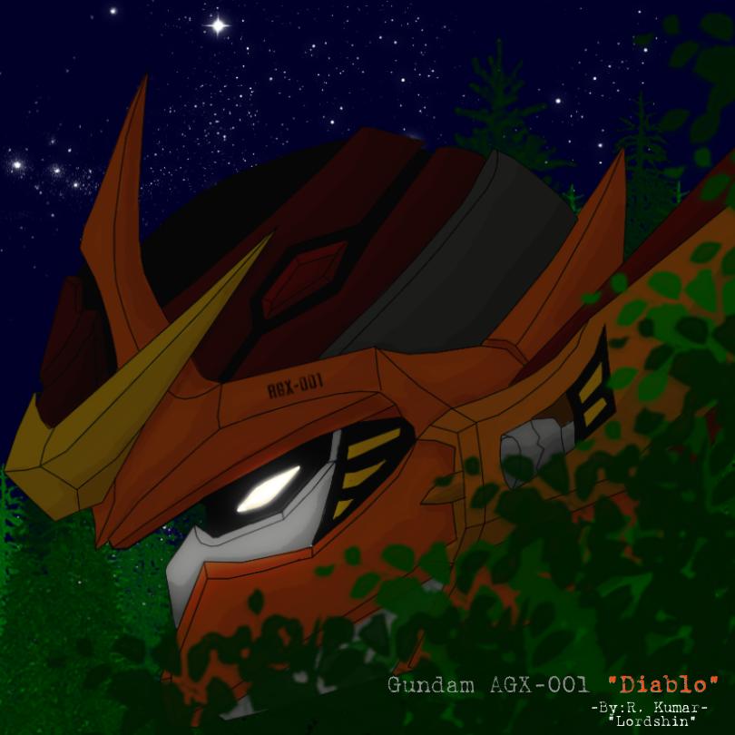 """Gundam """"Diablo"""" by Lordshin"""