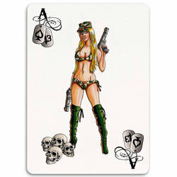 Deadly Ladies Card Series Ace by manbehindthemachine