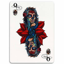 Deadly Ladies Card Series Queen by manbehindthemachine