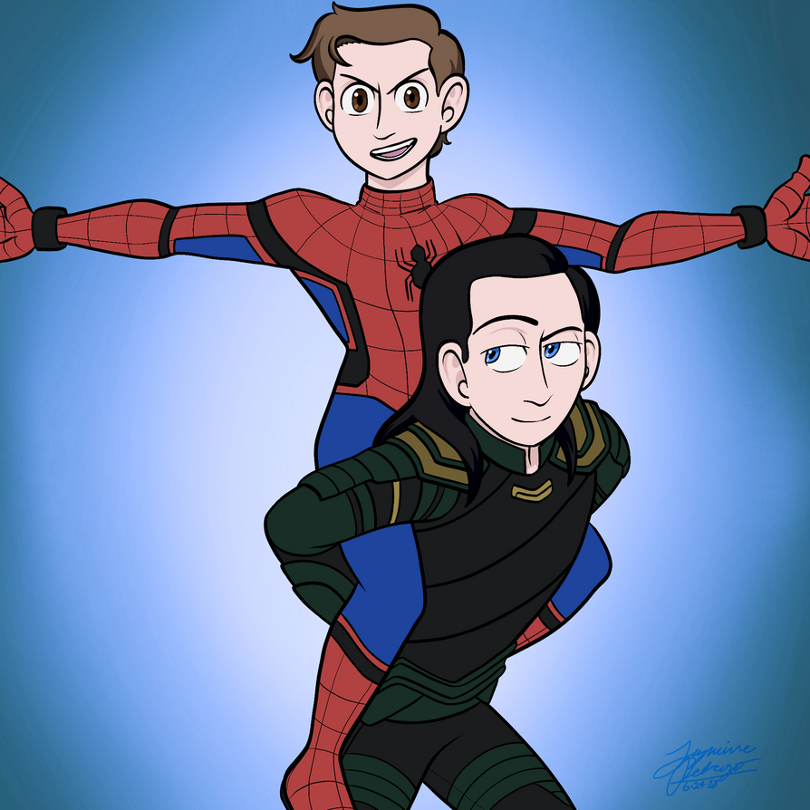 Peter and Loki by WaterElement33