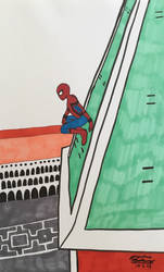 Inktober Day 2: Spider-Man in Venice by WaterElement33