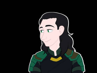 Loki Looking Left by WaterElement33