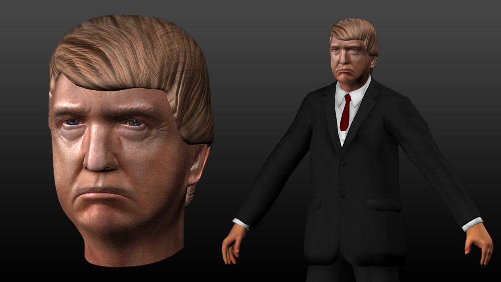 Donald trump 3d model by quechus13 on deviantart for Donald model