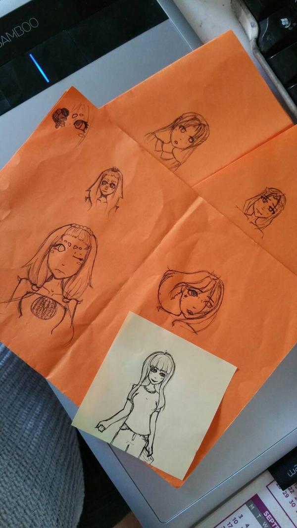 Work doodles by PandabearSarah