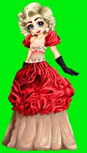 Em in a ballgown