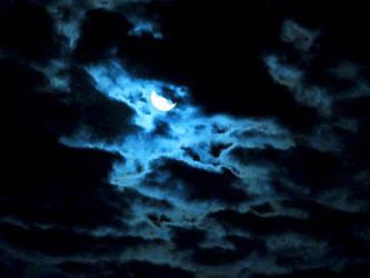 Flirting Moon by wonenownlee