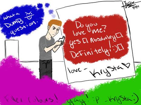 Krysta doodling around