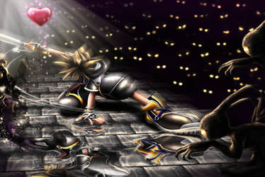 KH2 Sora - Collecting Hearts by castrochew