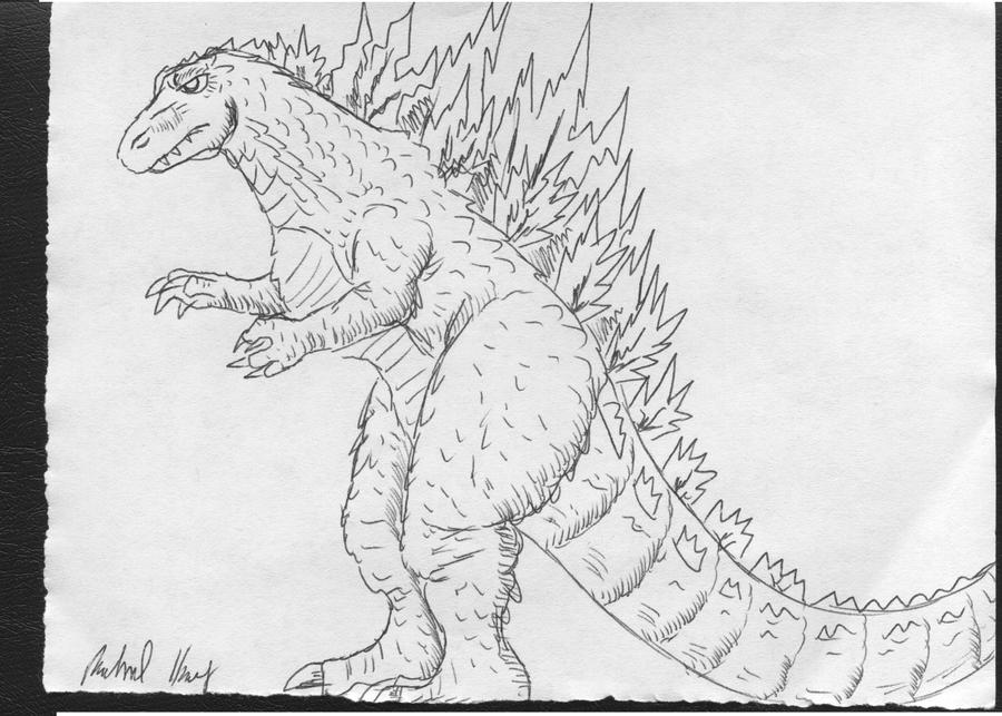 Easy godzilla drawings