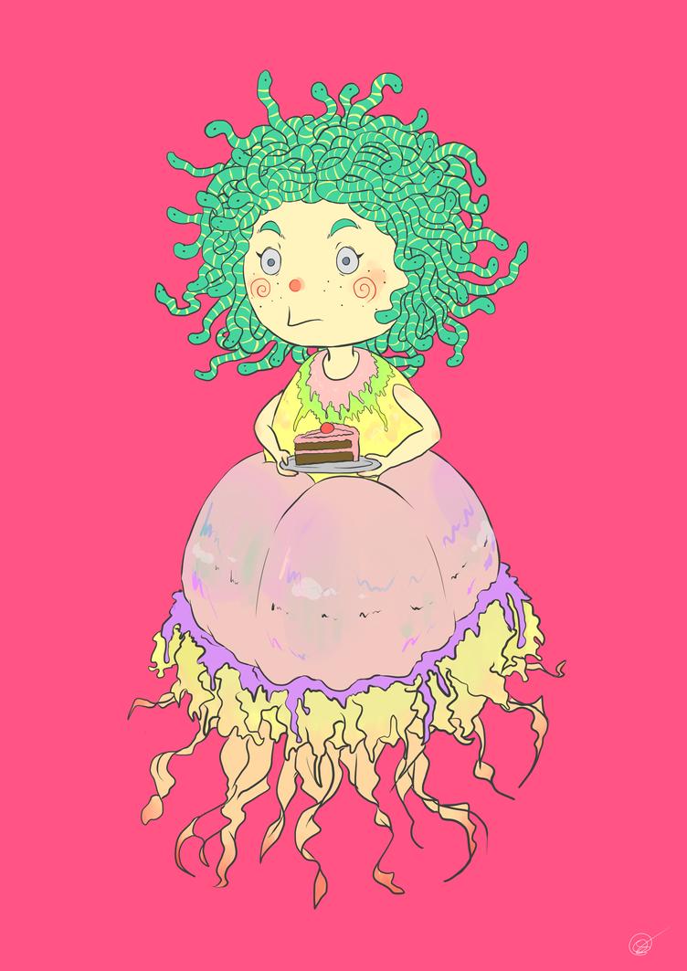 Cake Medussa by ALittleSeahorse