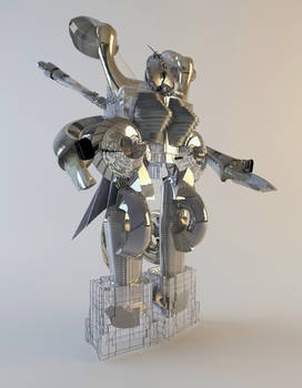 Robo 2018 building  3d Printed sculpture