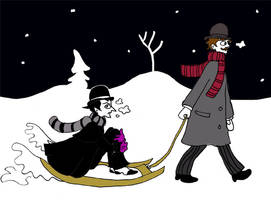 H and Ws first day of snow by elina-elsu