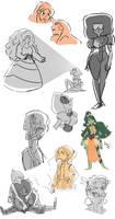 Steven Universe Sketch Dump by eorje