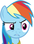 Rainbow Dash Creeped Out