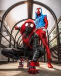 Miles Morales and Scarlet Spider by CosPlayNay