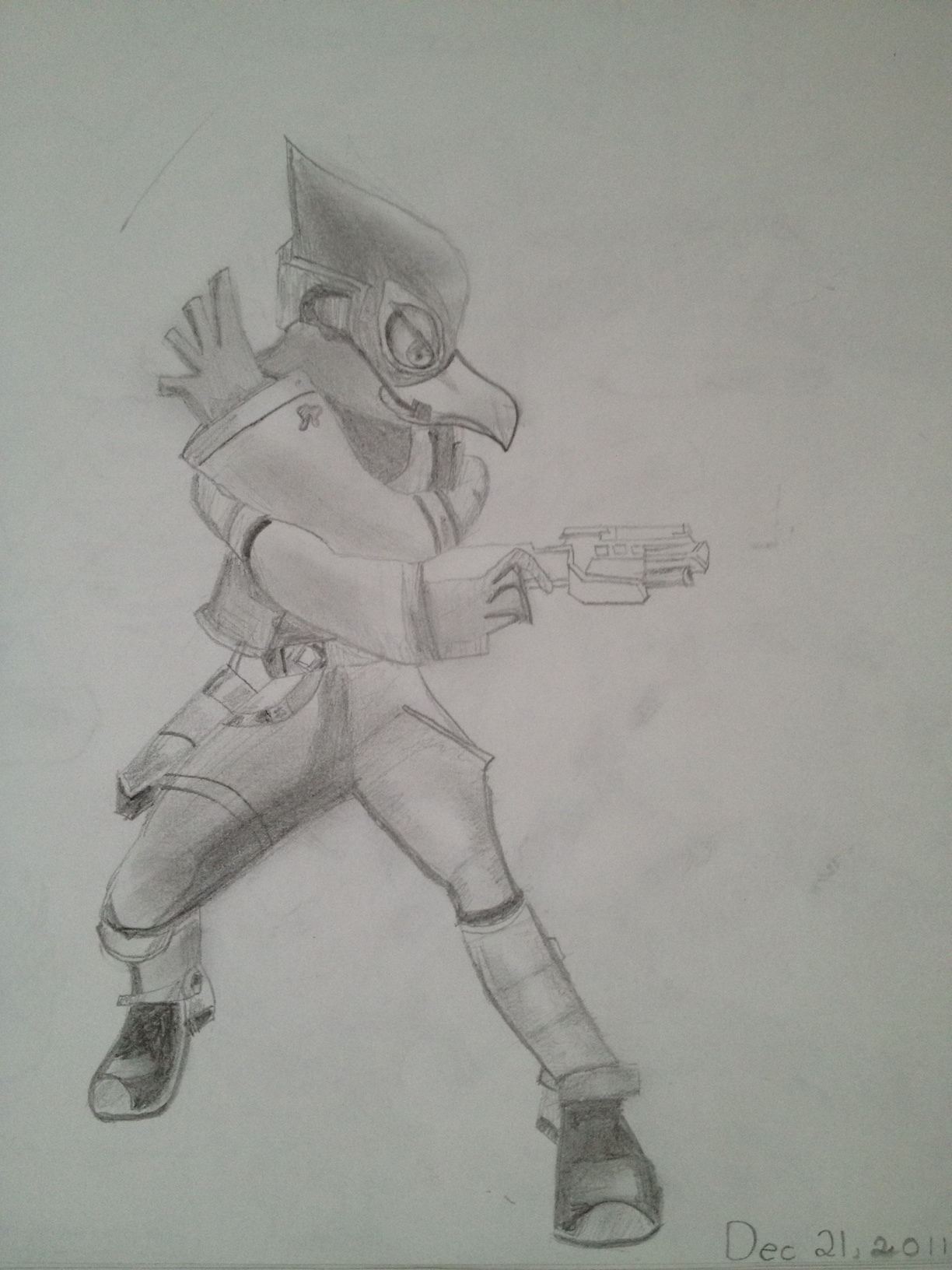 SSBB Falco by Falcofan100Falco Ssbb Drawings