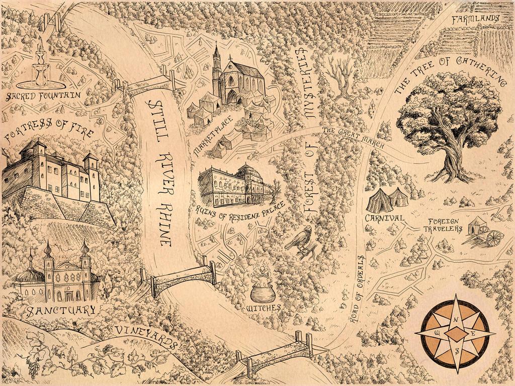 Fairytale Map of Wurzburg by riniwuzhere