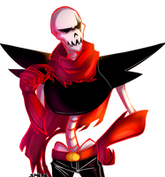 Underfell Papyrus by DeceptiveShadow