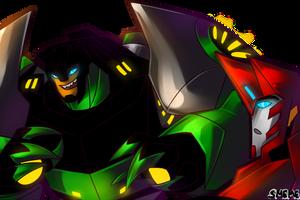 Grimlock and Sideswipe by DeceptiveShadow