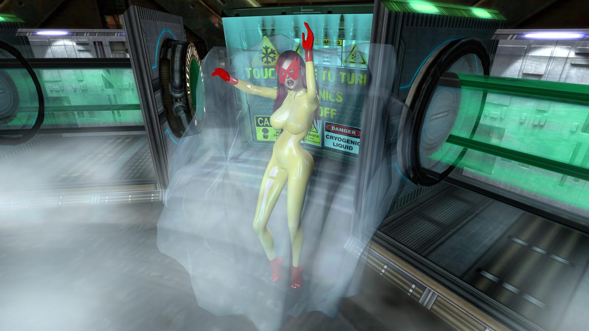 Firestar peril - Cryogenic lab 2 by Ultramichelle