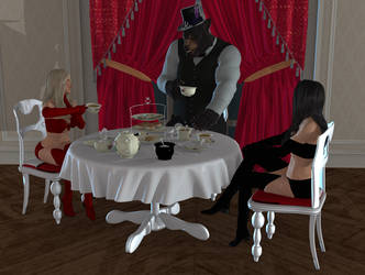 Tea For Three By Blackdoggieart by Ultramichelle