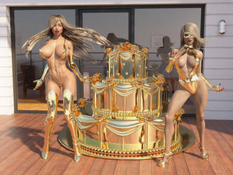 Hypnotic gold cake by Ultramichelle