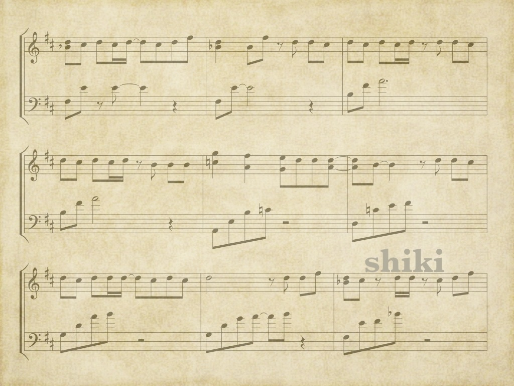Old sheet music ipad wallpaper by monkiandshiki on for Wallpaper sheets
