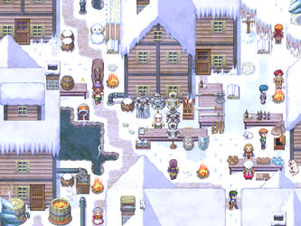 A city under snow by HyperSnake22