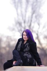 Purple Haired Beauty 1 by Earthfeeler
