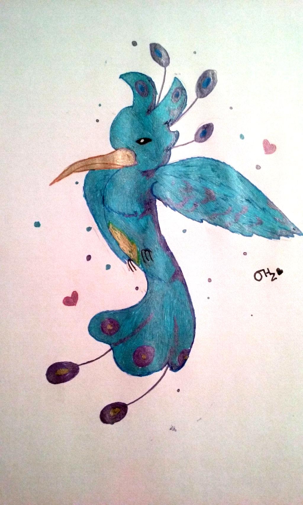 Blue Bird Gel Pen Challenge By Montycotton On Deviantart