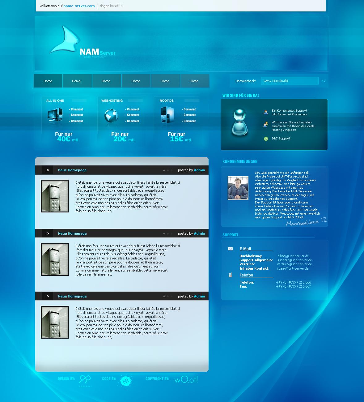 Name-Server Screendesign by Pired1992