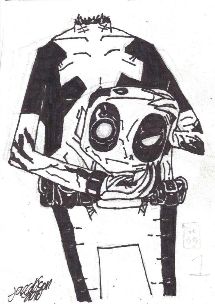 Deadpool Jhonen Vasquez style by jc013 on DeviantArt