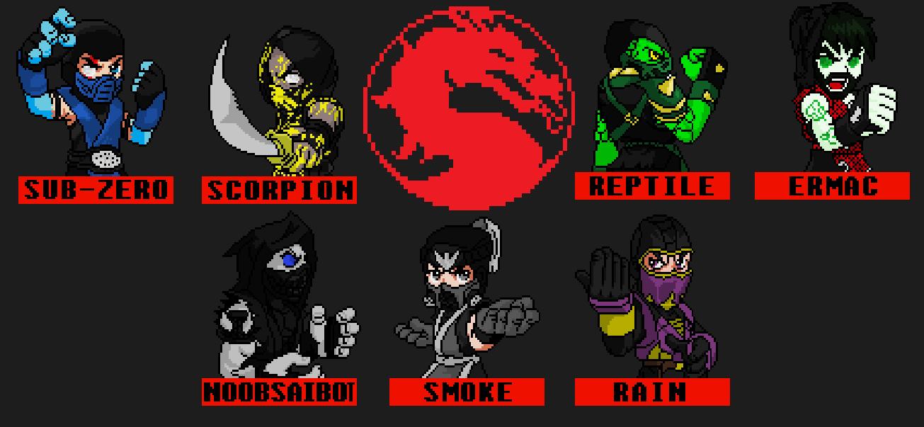 Mortal Kombat Ninjas Pixel By Jc013 On Deviantart