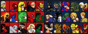 Marvel Vs DC Universe: Zero EX Fighter Select by jc013