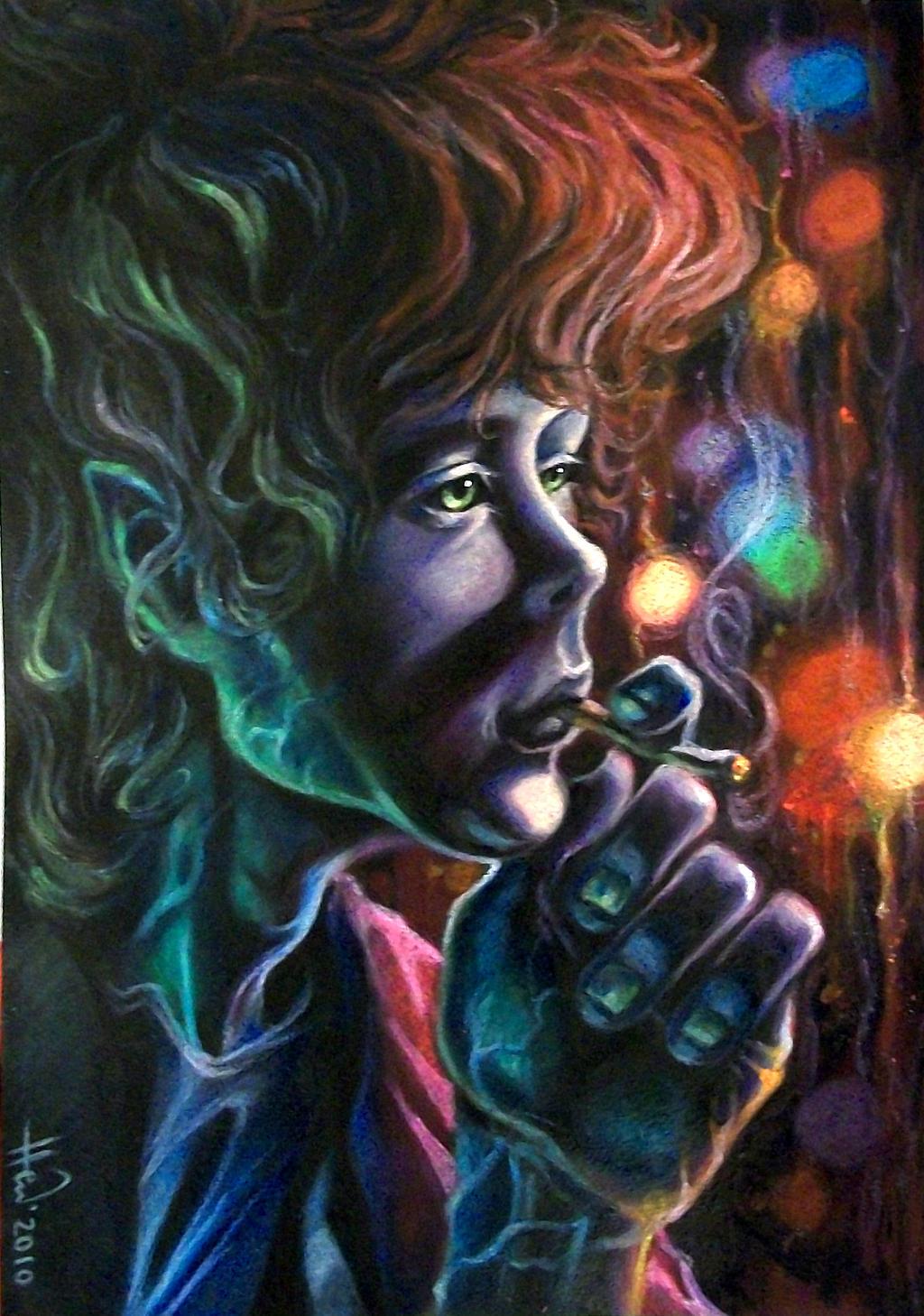 Smoking Man by Hewlann
