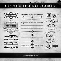 Free Vector Calligraphic Elements