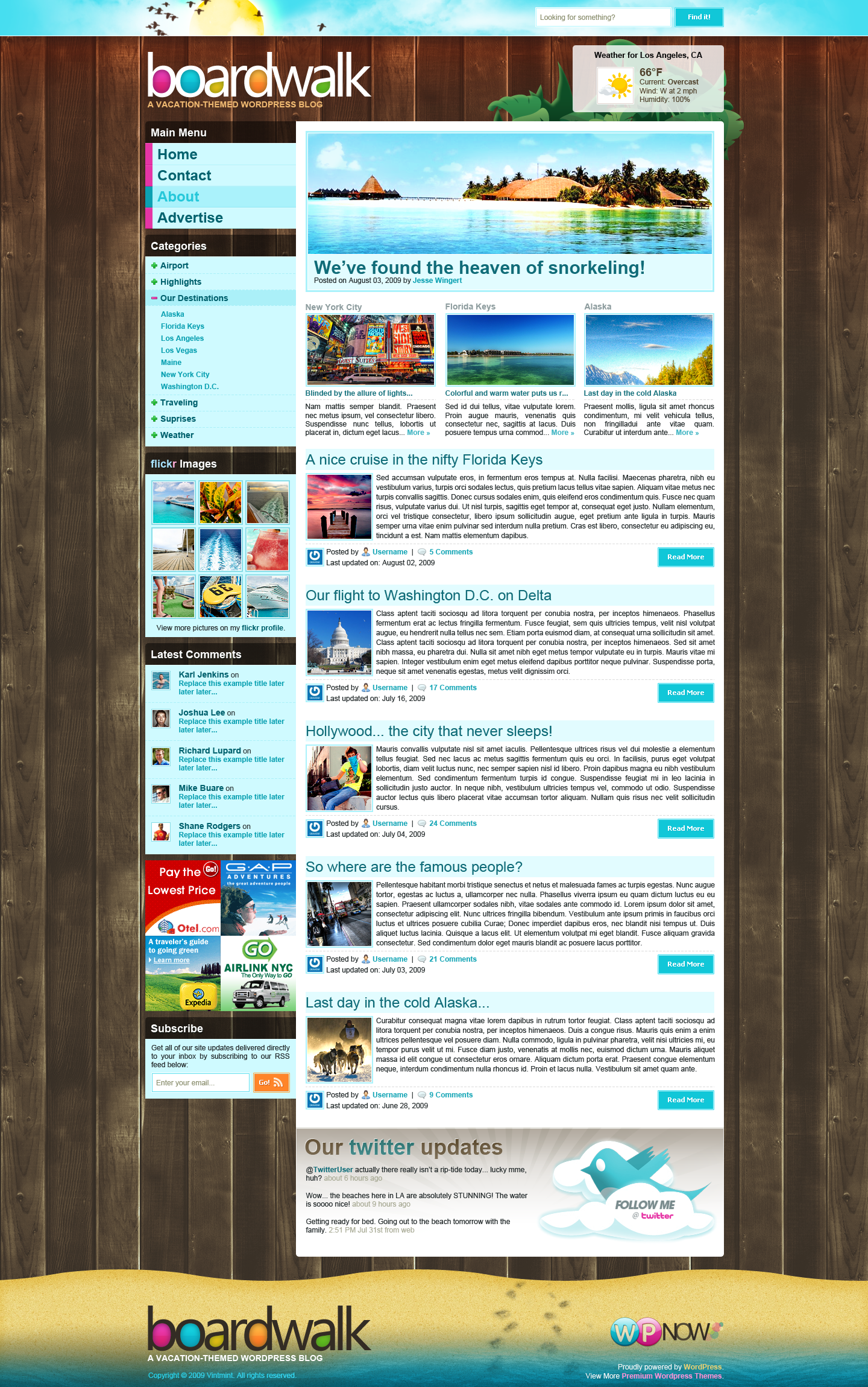 Boardwalk WordPress Theme by STRIF3wind