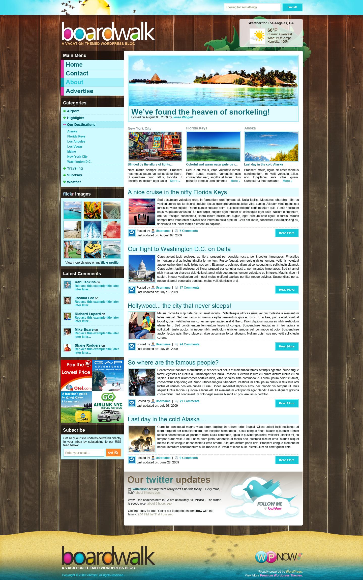 Boardwalk WordPress Theme by STRIF3wind