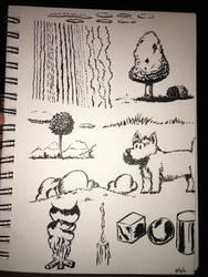 Brush pen experiments  by epicpoodle