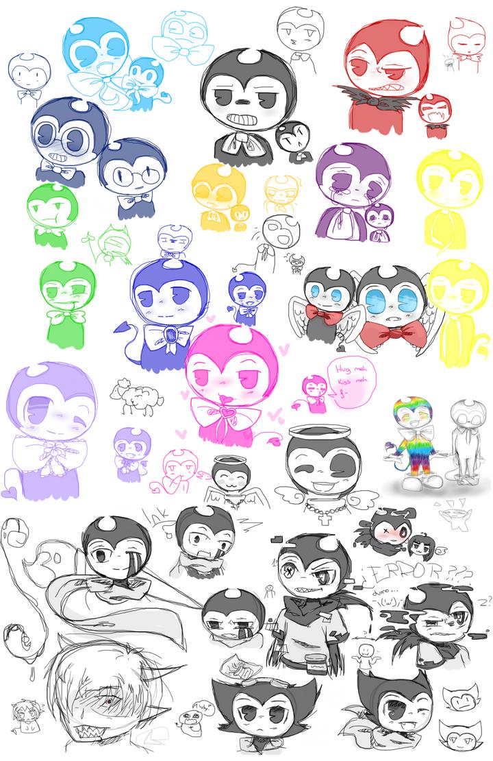 More BATIM doodles by MariaCool1234