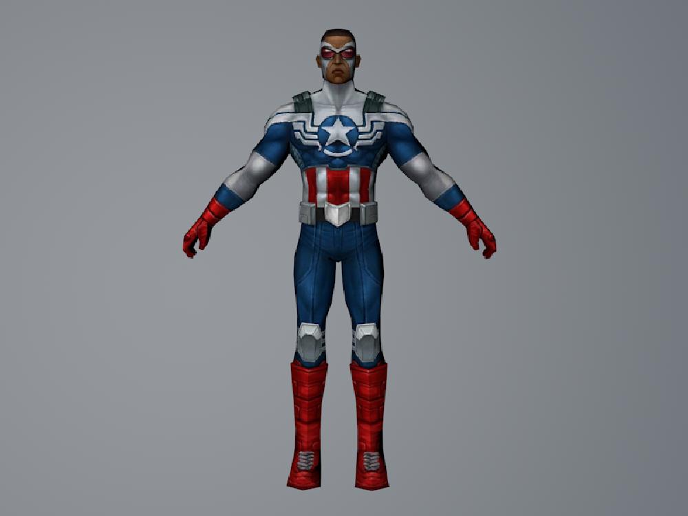 Captain America (Falcon)(MarvelFF) 3DModel by Pitermaksimoff
