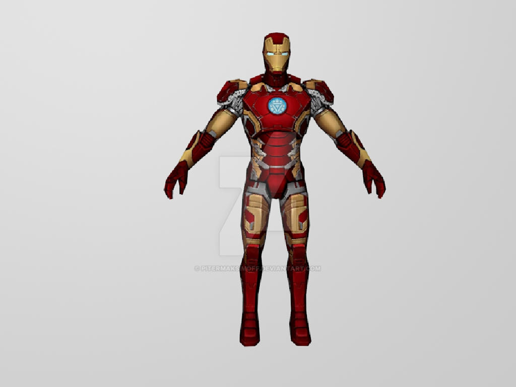 Iron Man Mk43 (MarvelFF) 3DModel by Pitermaksimoff