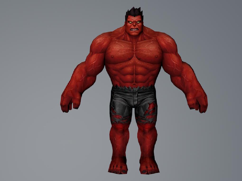 Red Hulk (MarvelFF) 3DModels by Pitermaksimoff