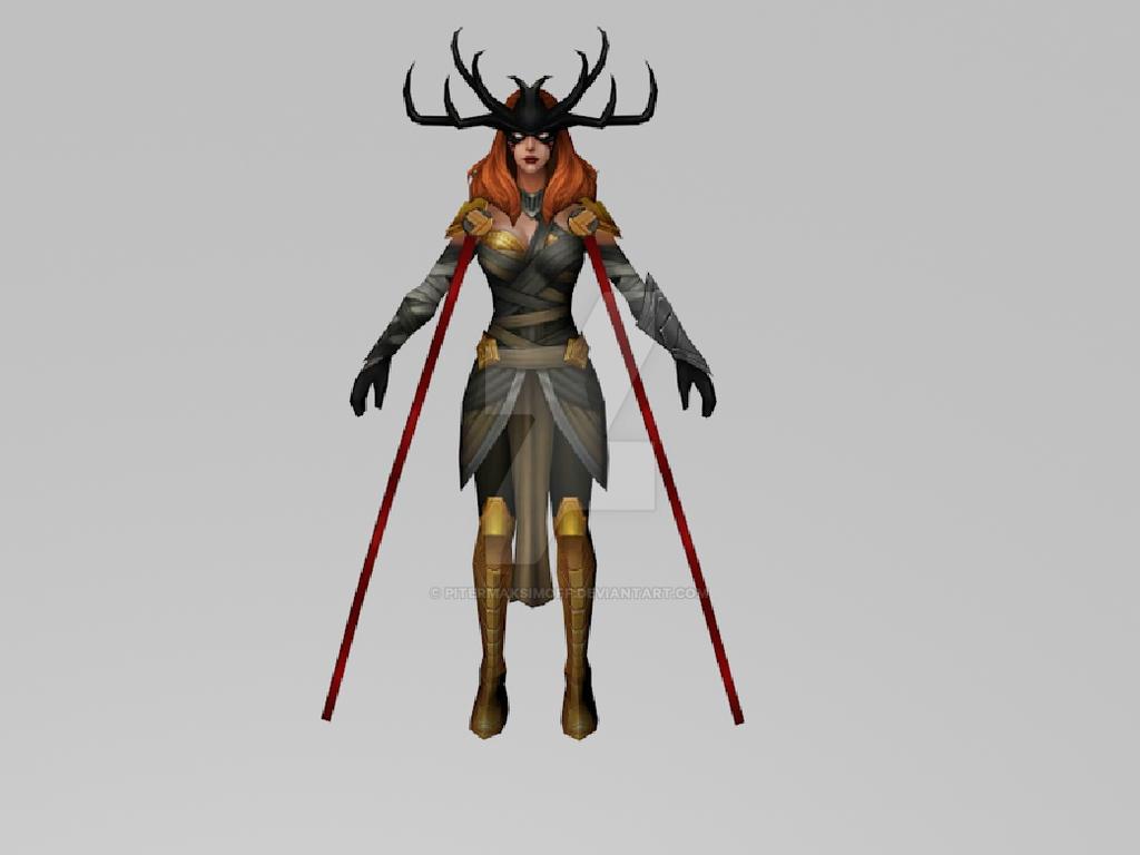 Angela Queen of Hela (MarvelFF 3DModel) by Pitermaksimoff