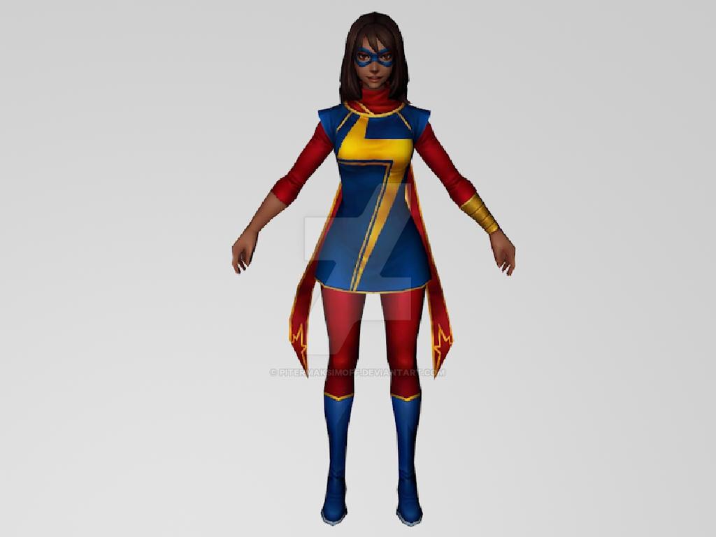 Kamala Khan (MarvelFF) 3DModel by Pitermaksimoff