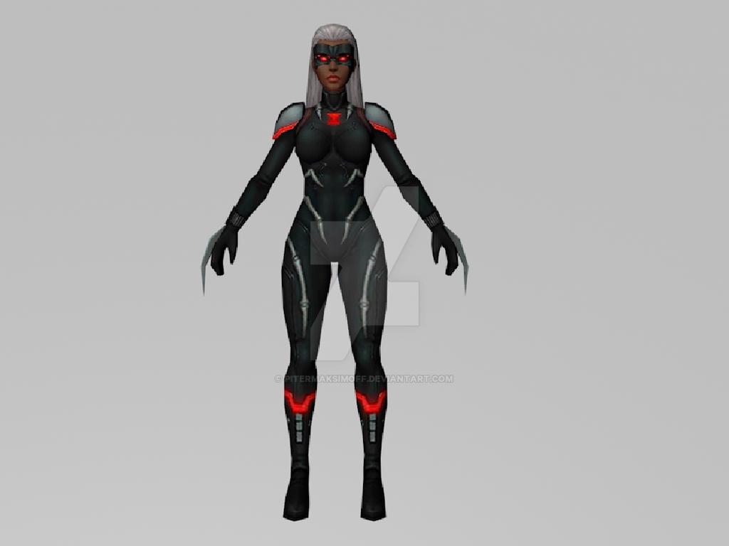 Black Widow 2099 (MarvelFF) 3DModel by Pitermaksimoff