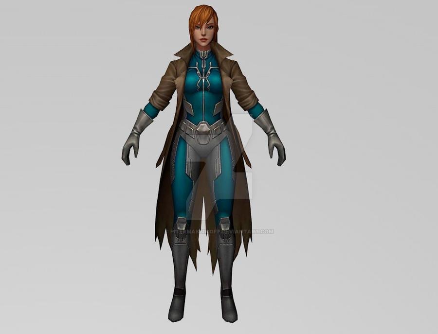Elsa Bloodstone Marvel Zombies (MFF) 3DModel by Pitermaksimoff