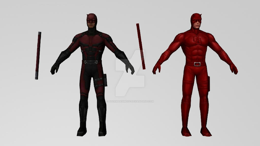 Daredevil Netflix and Classic (MFF) 3DModels by Pitermaksimoff