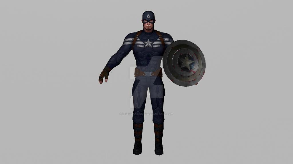 Captain America (Winter Soldier Movie 3DModel MFF) by Pitermaksimoff