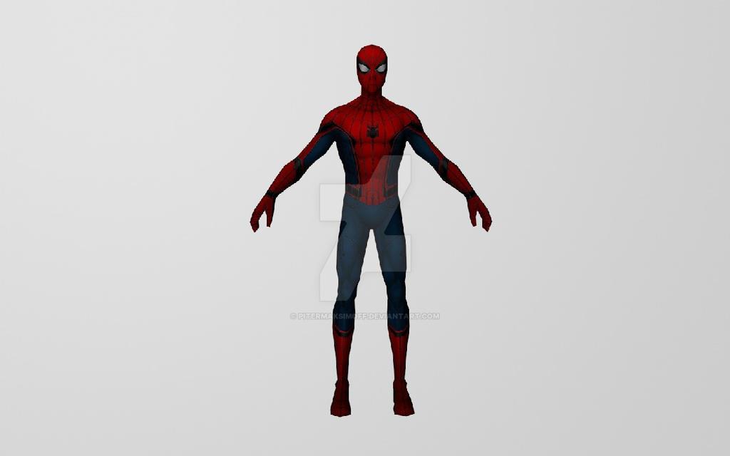 Civil War Spiderman 3DModel (MFF) by Pitermaksimoff